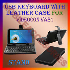 "ACM-USB KEYBOARD 7"" CASE for VIDEOCON VA81 TABLET LEATHER COVER STAND HOLDER NEW"