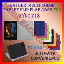 """ACM-LEATHER FLIP MULTI-COLOR 7"""" COVER CASE STAND for ZYNC Z18 TABLET TAB FLAP"""
