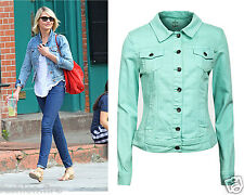 New Ladies Womens Girls Celeb Inspired Jeans Denim Jacket Coat UK Size 8-14