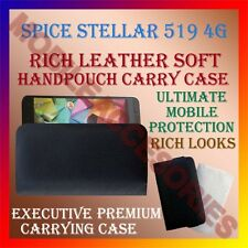 ACM-RICH LEATHER SOFT CASE for SPICE STELLAR 519 4G MOBILE HANDPOUCH COVER POUCH