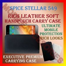 ACM-RICH LEATHER SOFT CASE for SPICE STELLAR 549 MOBILE HANDPOUCH COVER HOLDER
