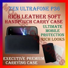 ACM-RICH LEATHER SOFT CASE for ZEN ULTRAFONE P36 MOBILE HANDPOUCH COVER HOLDER