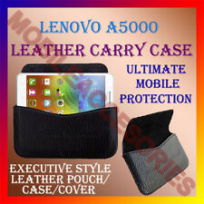 ACM-HORIZONTAL LEATHER CARRY CASE for LENOVO A5000 MOBILE COVER POUCH HOLDER
