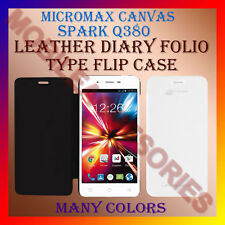ACM-LEATHER DIARY FOLIO FLIP CASE For MICROMAX CANVAS SPARK Q380 MOBILE COVER