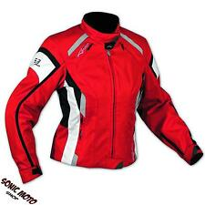 Giacca Moto Donna Impermeabile 4 Stagioni Scooter Sport Custom Lady Red