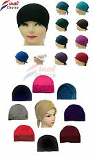 Women Ladies Under Scarf Hijab Tube  plain glitter Bonnet Cap  Stretchable