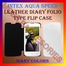 ACM-LEATHER DIARY FOLIO FLIP CASE for INTEX AQUA SPEED MOBILE FRONT/BACK COVER