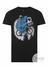 PRIMARK Official Mens ET X SESAME STREET ELMO AND COOKIE MONSTER T Shirt