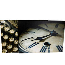 VINTAGE CANVAS WALL ART TYPE WRITER CLOCK HANGING DECOR GIFT RETRO PICTURE HOME