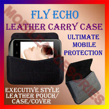 ACM-HORIZONTAL LEATHER CARRY CASE for FLY ECHO MOBILE POUCH COVER HOLDER PROTECT