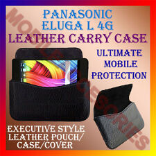 ACM-HORIZONTAL LEATHER CARRY CASE for PANASONIC ELUGA L 4G MOBILE COVER POUCH