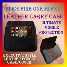 ACM-HORIZONTAL LEATHER CARRY CASE for SPICE FIRE ONE MI FX1 MOBILE COVER POUCH
