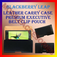 ACM-BELT CASE for BLACKBERRY LEAP MOBILE LEATHER POUCH COVER CLIP HOLDER HOLSTER