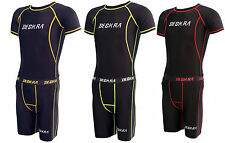 Deckra Mens Compression Armour Base Layer Top Skin Fit Shirt and Short Set