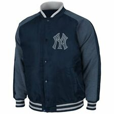 Majestic New York Yankees Navy Blue Coaches Choice Full Button Jacket