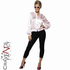 Womens Pink Ladies Lady Jacket Official Licensed Grease Fancy Dress Costume Hen