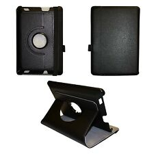 """BLACK AMAZON KINDLE HD FIRE 7"""" INCH PU LEATHER 360 DEGREE ROTATING CASE"""