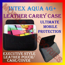 ACM-HORIZONTAL LEATHER CARRY CASE for INTEX AQUA 4G+ MOBILE POUCH COVER HOLDER