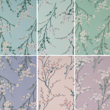 Spring Into Blooming Flowers Floral Buds Branches 100% Cotton Poplin Fabric