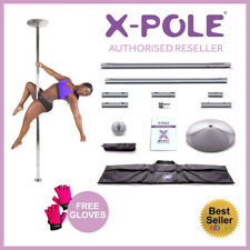 NEW 45mm X-Pole Xpert - Chrome - Professional Dance Pole -Static & Spinning Pole