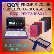 "ACM-USB COLOR KEYBOARD 8"" CASE for BSNL PENTA IS801C TABLET LEATHER COVER STAND"