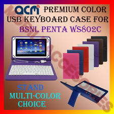 "ACM-USB COLOR KEYBOARD 8"" CASE for BSNL PENTA WS802C TABLET LEATHER COVER STAND"