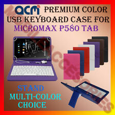 "ACM-USB COLOR KEYBOARD 8"" CASE for MICROMAX P580 TAB TABLET LEATHER COVER STAND"