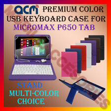 "ACM-USB COLOR KEYBOARD 8"" CASE for MICROMAX P650 TAB TABLET LEATHER COVER STAND"