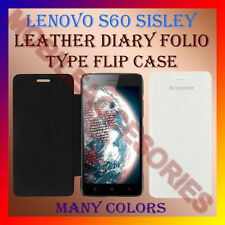 ACM-LEATHER DIARY FOLIO FLIP CASE for LENOVO S60 SISLEY MOBILE FRONT/BACK COVER