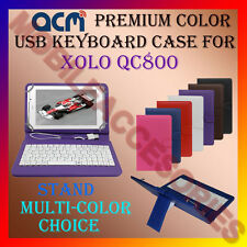 "ACM-USB COLOR KEYBOARD 8"" CASE for XOLO QC800 TABLET LEATHER COVER STAND FLIP"