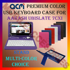 "ACM-USB COLOR KEYBOARD 7"" CASE for AAKASH UBISLATE 7CX TAB LEATHER COVER STAND"