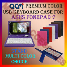 "ACM-USB COLOR KEYBOARD 7"" CASE for ASUS FONEPAD 7 TABLET LEATHER COVER STAND NEW"