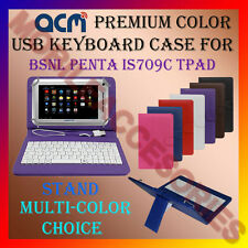 """ACM-USB COLOR KEYBOARD 7"""" CASE for BSNL PENTA IS709C TPAD LEATHER COVER STAND"""