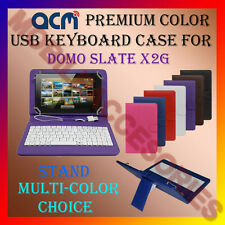 "ACM-USB COLOR KEYBOARD 7"" CASE for DOMO SLATE X2G TABLET LEATHER COVER STAND NEW"