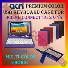 """ACM-USB COLOR KEYBOARD 7"""" CASE for HCL ME CONNECT 3G 2.0 Y4 LEATHER COVER STAND"""