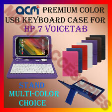 "ACM-USB COLOR KEYBOARD 7"" CASE for HP 7 VOICETAB TABLET LEATHER COVER STAND FLIP"