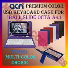 "ACM-USB COLOR KEYBOARD 7"" CASE for IBALL SLIDE OCTA A41 TAB LEATHER COVER STAND"