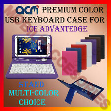 """ACM-USB COLOR KEYBOARD 7"""" CASE for ICE ADVANTEDGE TABLET LEATHER COVER STAND TAB"""