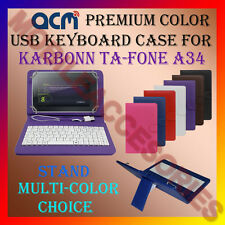 "ACM-USB COLOR KEYBOARD 7"" CASE for KARBONN TA-FONE A34 TAB LEATHER COVER STAND"