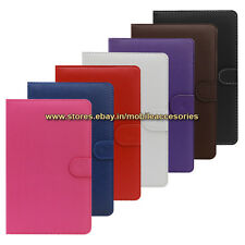 """ACM-USB COLOR KEYBOARD 7"""" CASE for LAVA E-TAB IVORY TABLET LEATHER COVER STAND"""