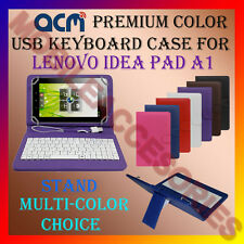 "ACM-USB COLOR KEYBOARD 7"" CASE for LENOVO IDEA PAD A1 TAB LEATHER COVER STAND"