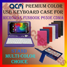 "ACM-USB COLOR KEYBOARD 7"" CASE for MICROMAX P650E CDMA TAB LEATHER COVER STAND"