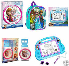 Disney Frozen Kids Children Wall Clock Anna Elsa Rucksack Magnetic Scribbler New