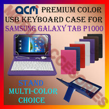 "ACM-USB COLOR KEYBOARD 7"" CASE for SAMSUNG TAB P1000 TABLET LEATHER COVER STAND"