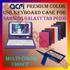"ACM-USB COLOR KEYBOARD 7"" CASE for SAMSUNG TAB P6200 TABLET LEATHER COVER STAND"