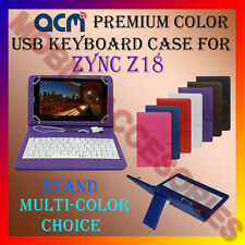 """ACM-USB COLOR KEYBOARD 7"""" CASE for ZYNC Z18 TABLET TAB LEATHER COVER STAND FLIP"""