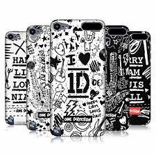 OFFICIAL 1D DOODLE DESIGN HARD BACK CASE FOR APPLE iPOD TOUCH 5G 5TH GEN
