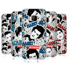 OFFICIAL ONE DIRECTION 1D FACE PATTERNS SOFT GEL CASE FOR HTC ONE M9