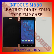 ACM-LEATHER DIARY FOLIO FLIP FLAP CASE for INFOCUS M330 MOBILE FRONT/BACK COVER