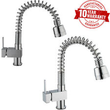 Kitchen Sink Mixer Monobloc Tap Pull Out Spray Hose Chrome /Brushed Steel Finish